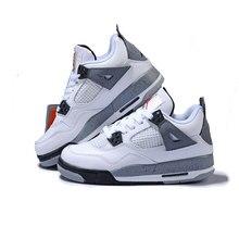 fc316a5305197 Jordan Retro 4 ciment blanc Hommes et chaussures de basket-ball des femmes  Respirant Hommes