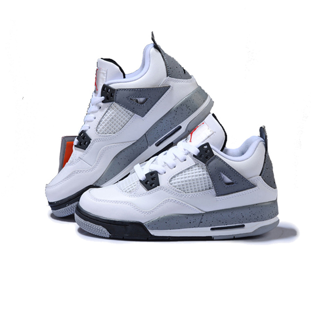 36dc3b22a305 Jordan Retro 4 White Cement Men and women Basketball Shoes Breathable Men s  Outdoor Sports Sneakers Size 36-46 Lover Style
