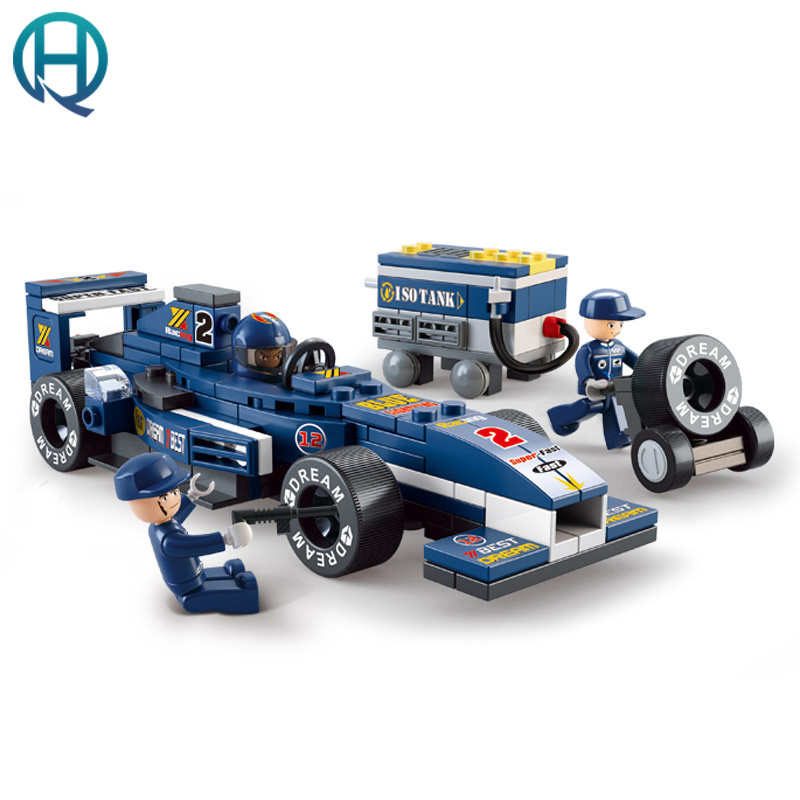 Sluban F1 Racing Car Model Building Block Set 3D Construction Diy Brick Toy Enlighten Toy For Boy Children Compatible With Lego