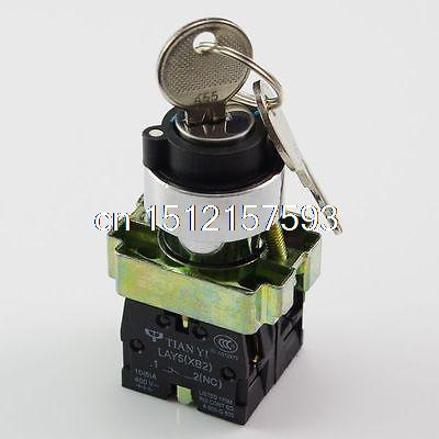 XB2BG65C 1N/O 1N/C 2Position Momentary Key Select Selector Switch Replaces Tele