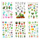 6pcs/Set Cute Green Cactus Plant Planner Stickers Scrapbooking Kawaii DIY Decoration Stick Label Sticker Bullet Journal Stickers