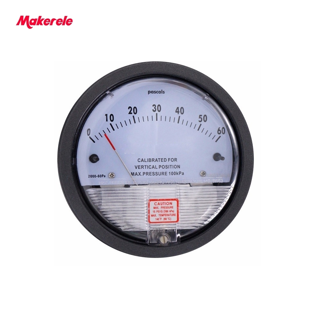 Best Sale Micro Differential Pressure Gauge TE2000 0-60PA High Precision 1/8