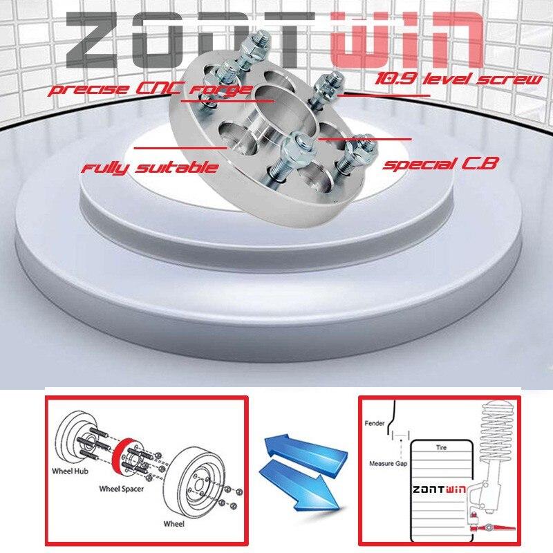 2 шт. 25 мм ZONTWIN алюминиевые колеса с ЧПУ адаптеры Распорки 5-127 71,6 костюм для автомобиля Jeep новый Grand cherokee