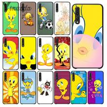 Yinuoda yellow cartoon tweety bird Newly Arrived Black Cell Phone Case for Haiwei P10 plus Honor 9 10 View 10 Mate 9 Coque Shell(China)
