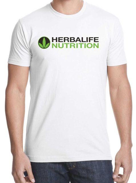 3ebbebd2be Nutrição Herbalife camisa do logotipo do Algodão frete grátis S 2XL ...