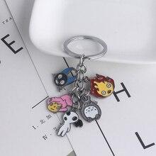 Cartoon Keychains My Neighbor Totoro Miyazaki Role Enamel Small Pendant For Man Woman Christmas Gifts Jewelry