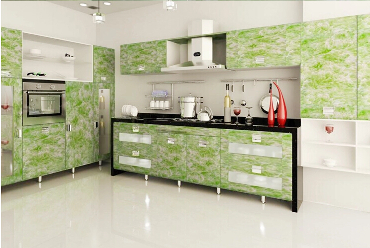 Amazing 10m Solid Pvc Self Adhesive Wallpaper For Kitchen Cabinet Vinyl