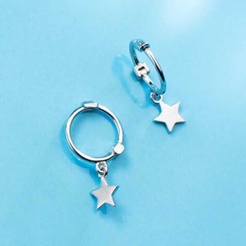 2019 100% 925 Solid Sterling Silver Women Fashion Heart Cross Star Charm Stud Earrings Friendship Gift Teen Girls Friends
