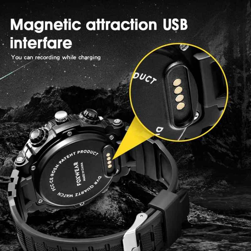 جديد FOX9 قابلة للشحن الذكية HD ساعة الكاميرا صوت فيديو USB واي فاي مسجل مصباح ليد تسجيل الرياضة ساعة جهاز
