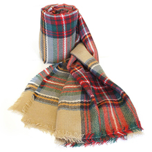 Za Winter luxury brand popular plaid winter scarf designed acrylic basic shawls women's big size scarves cape robe bufandas