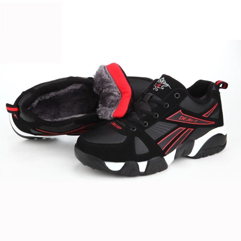 Sport rouge bleu noir chaussures libres extérieur épaisseur velours hiver chaud baskets pour femmes hommes classique chaud course chaussures flocage