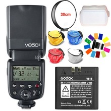 Godox V850II GN60 2.4G wireless X System Speedlite Li-ion Battery Flash Light with Car Charger for Canon Nikon Sony Camera +Gift