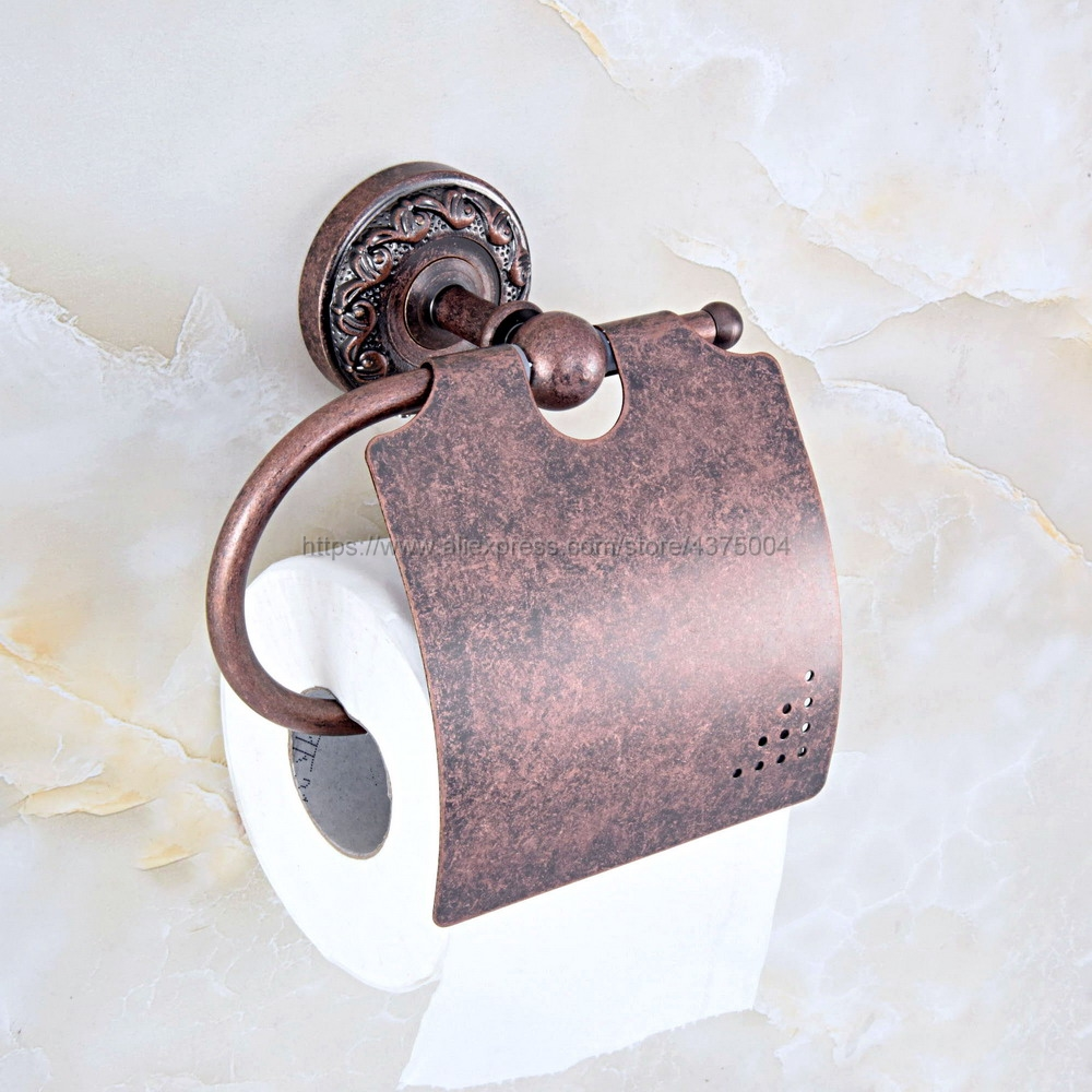 Antique Copper Toilet paper Holder Wall Mount Tissue Paper Bathroom Roll Nba158
