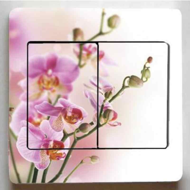 1 قطعة مشرق الزهور سلسلة مفاتيح ملصقات ، جديد غرفة المعيشة المنزلي نوم أضواء الزخرفية ملصقات ، الحدود البلاط للحمامات