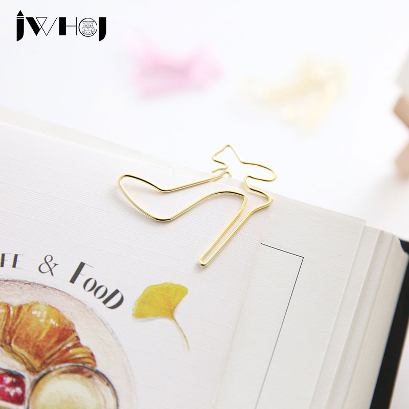 10pcs/lot Sweet High Heels Shape Paper Clip Material Escolar Bookmarks For Books Stationery School Supplies Papelaria Child Gift