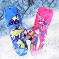 Bebê Da Menina do Menino de Inverno Luvas de Dedos Completos Luvas De Esqui Garoto Engrossar Crianças Quentes À Prova D' Água Esporte Ao Ar Livre Luvas de Snowboard Colorido