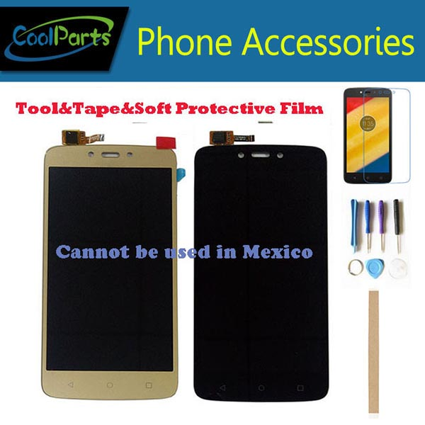 1PC/Lot For Motorola C Plus XT1721 XT1722 <font><b>XT1723</b></font> XT1724 XT1725 Moto C Plus LCD Display Screen+Touch Screen Digitizer 2 Color+Kit image
