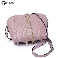 Russia ship!ZOOLER Brand genuine leather bag woman messenger bag for lady fashion cross body bags for women Losing sale#1211