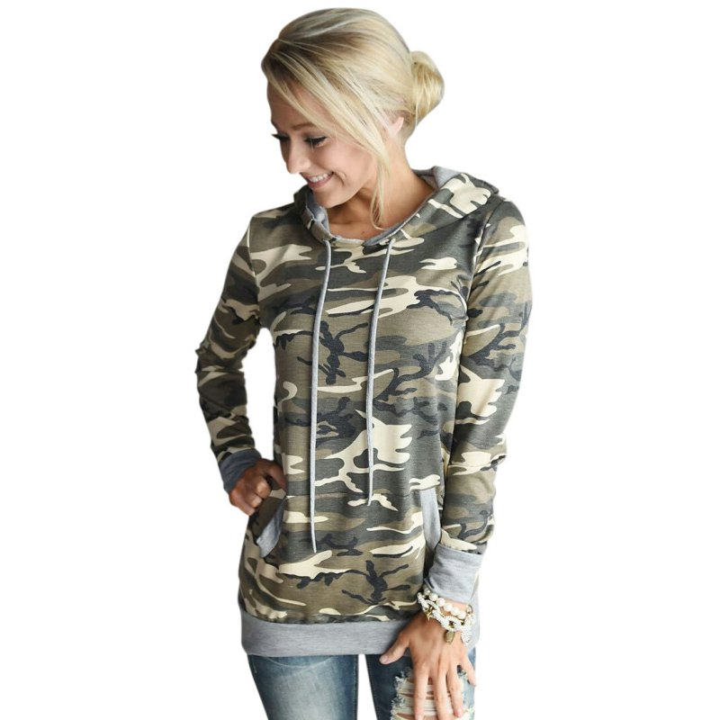Women Pullover Hoodie Cosplay Long Sleeve Hoody oculos Top Tracksuit for Women  Camouflage Sweatshirt Hooded Jumper - Popular Camo Hoodies For Women-Buy Cheap Camo Hoodies For Women