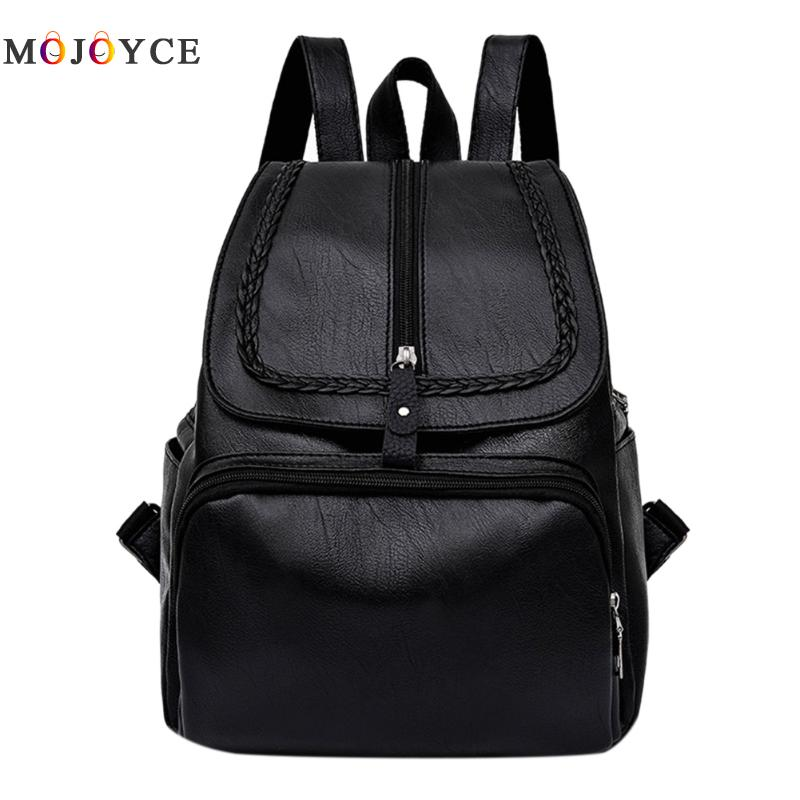 2017 Fashion Women Backpacks Weave Soft PU Leather Bags Shoulder Schoolbags For Girls Female Backpacks Travel Bag korean women backpacks travel package black soft pu leather shoulder bag schoolbags for teenage girls female leisure bag mochila