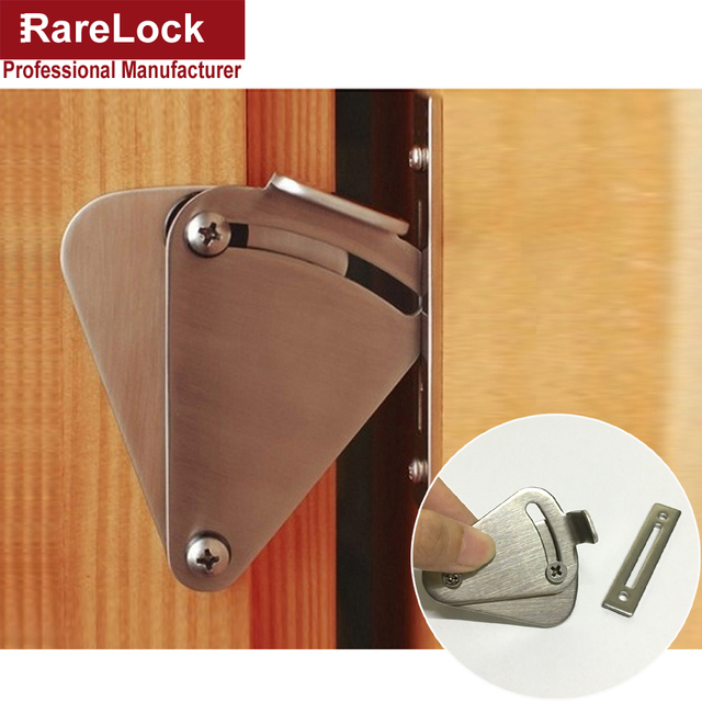 Rarelock Christmas Supplies Barn Door Lock Stainless Simple Easy To