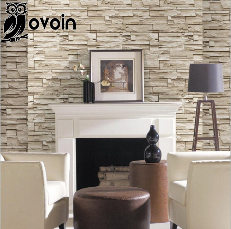 3d Embossed Brick Wallpaper 3d Stacked Brick Stone Wallpaper For Background Wall Grey