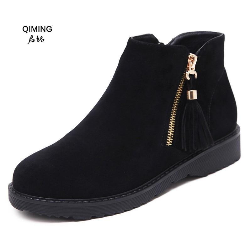 Velvet Martin Nouvelle Shoes Shoes Courtes 2018 suede D'hiver leather Bottes Gland Z30 Single Modèles Velours Enfants Automne Dames Velvet Leather Plus suede Et Femmes FJTlK1c