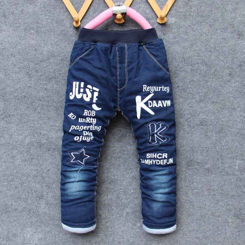 Bibicola winter boys pants kids boys jeans pants thick warm trousers jeans for children Winter pants for boy children jeans sosocoer boys jeans kids clothes winter thick warm boy cowboy pants high quality girls trousers fashion casual children costume