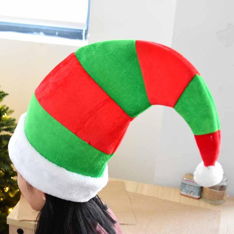 1PC Christmas Striped Clown Hat Party Caps For Adult Children Christmas Hat New Year Gift Christmas Decorations V2