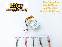 3.7v Lithium Polymer Battery 302035 032035 170mah Mp3 Mp4 Bluetooth 3*20*35mm Lithium Battery Small Stereo Bluetooth Gps