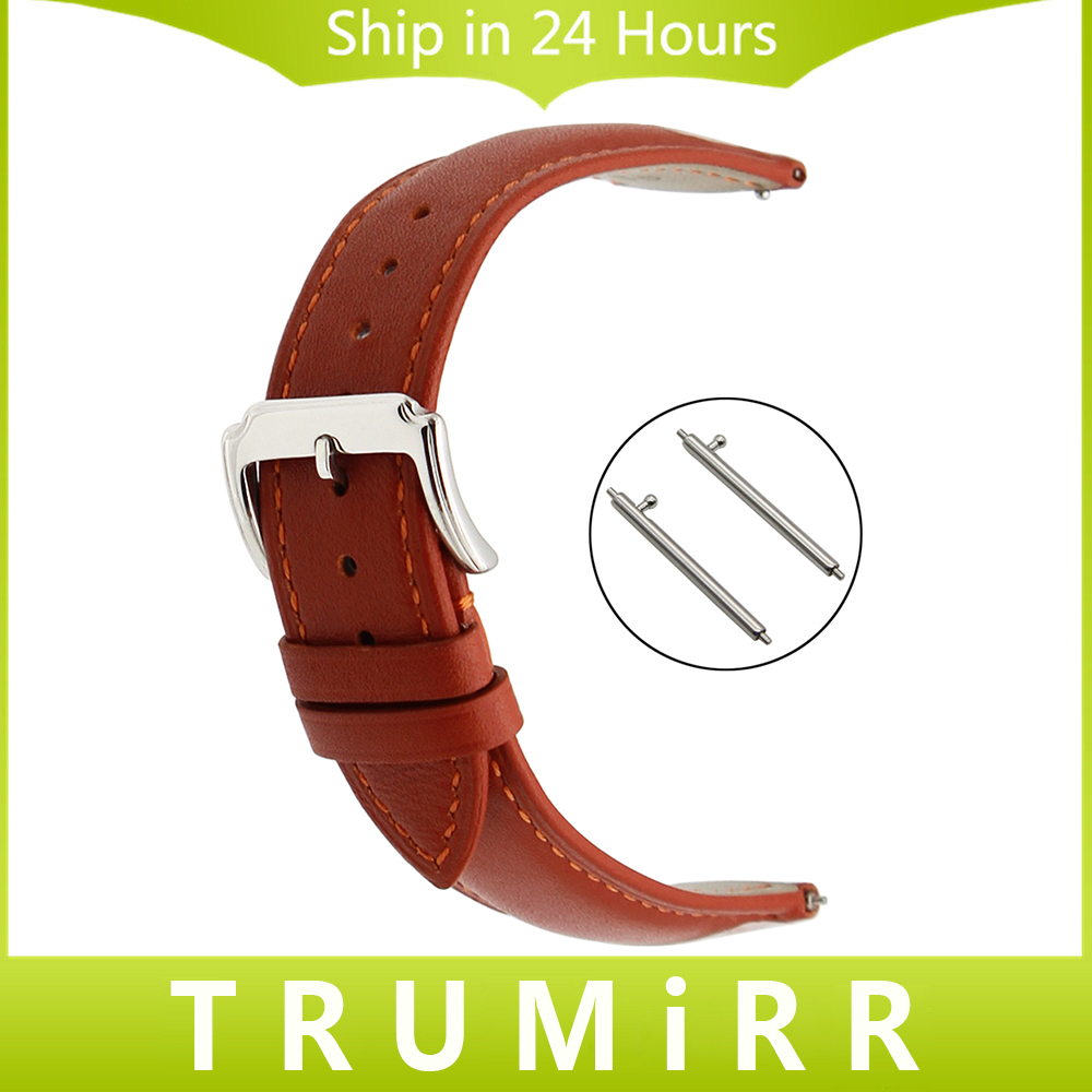 Quick Release Watchband 18mm 20mm 22mm Double 1st Layer Genuine Leather Watch Band Stainless Steel Buckle Wrist Strap Universal ceramic stainless steel watchband universal quick release watch band butterfly clasp wrist strap 12mm 14mm 16mm 18mm 20mm 22mm