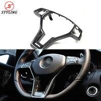 For Mercedes benz AMG CLA W117 Carbon Steering Wheel interior Trim W204 W176 W218 W207 W212 R172 Interior Trim Replacement 2011+