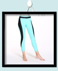 Muranba Women Laser Colorful Yoga Leggings Running Fitness Stretch Pants