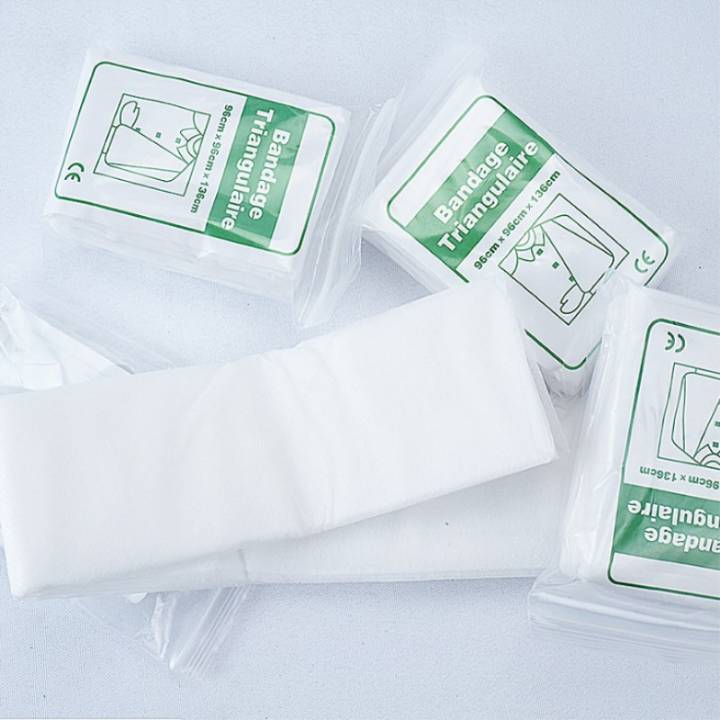 5 Bag/lot Non-woven Triangular Bandage Medical Supply Wound Dressing Fracture Fixation Bandage Wound Care Shoulder Hand Support