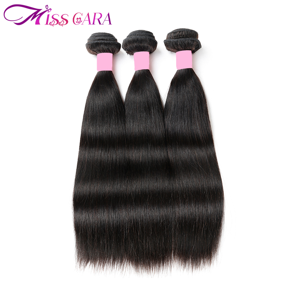 3 Pieces/ Lot Brazilian Straight Hair 3 Bundles 100% Human Hair Weave Bundles Miss Cara non Remy Hair Extensions Can Be Mixed