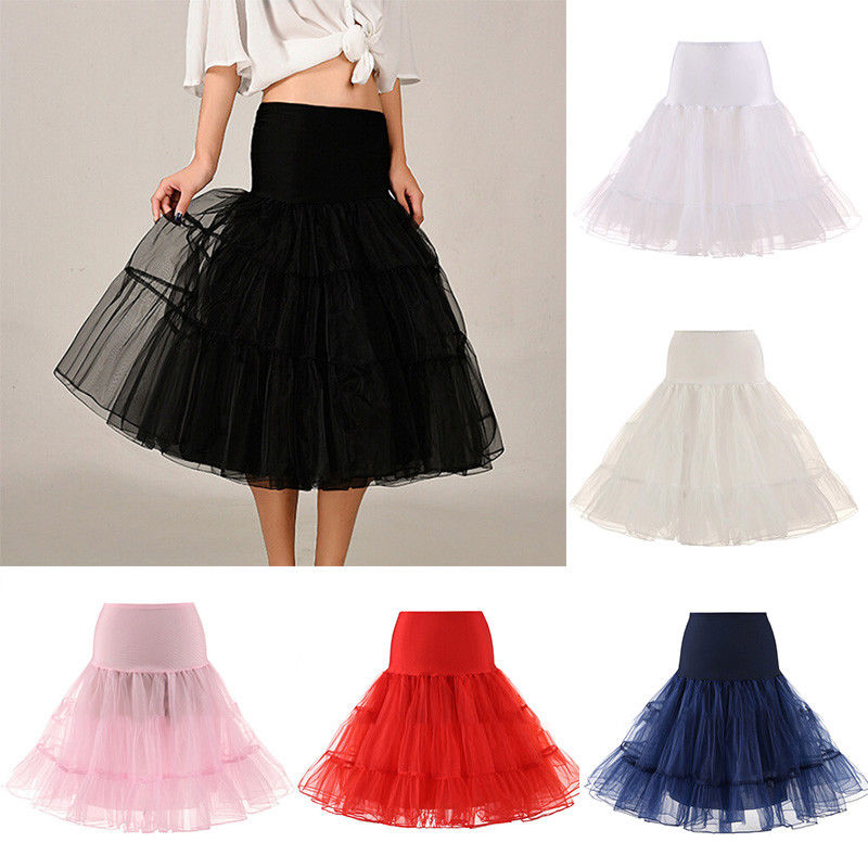 Polyester solid girls lady Mid-calf A-line Skirts Spring/Summer Fancy 2 layers Fabric Net Skirt