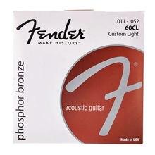 Fender 60CL Phosphor Bronze Acoustic Guitar Strings, Custom Light, 11-52
