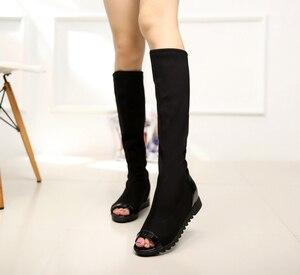 Image 2 - Biamoxer 春野さくら日本アニメ Naruto ナルト 疾風伝黒忍者ブーツアニメコスプレ靴