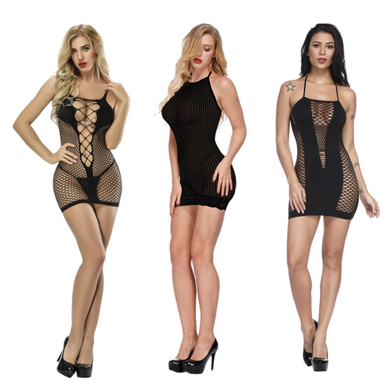 Plus Size Sexy Lingerie Women Hot Fishnet Erotic Dress Transparent Lingerie Sexy Hot Erotic Costumes Baby Doll Sexy Underwear