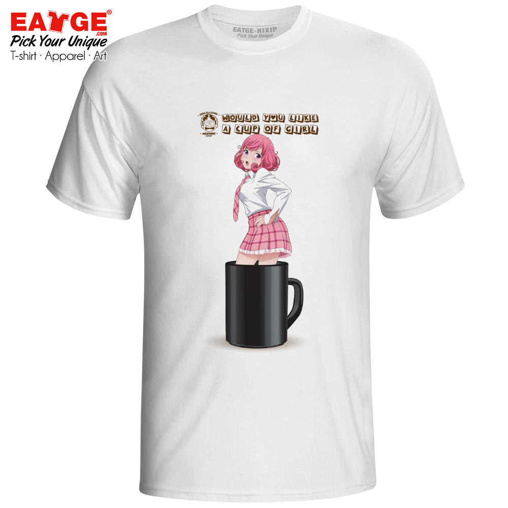 Yandere Kofuku Ebisu In Your Cup T-shirt Anime Noragami Fanart Brand Casual Print T Shirt Skate Style Rock Women Men Top Tee active shirt
