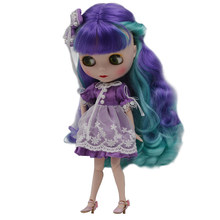 Blyth Doll BJD, Neo Blyth Doll Nude Customized Frosted Face Dolls Can Changed Makeup and Dress DIY, 1/6 Ball Jointed Dolls SO12(China)