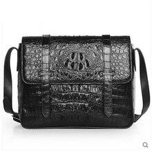 VV crocodile  leather man bag luxury one-shoulder bag with a double shoulder men handbag