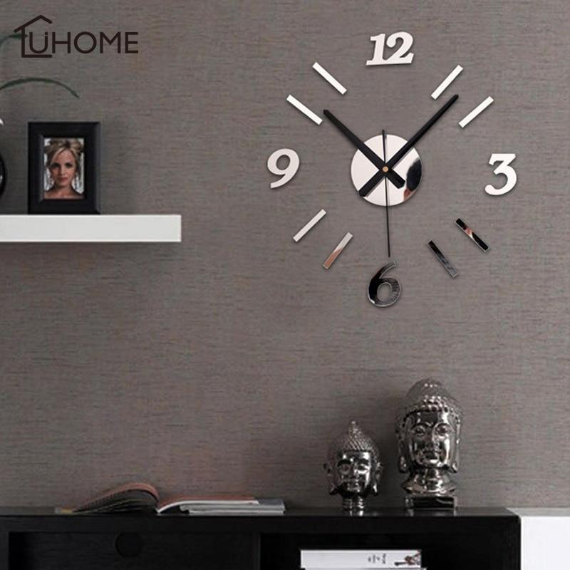 Hot Sale 2018 New Wall Clock Clocks Watch Stickers Diy 3d Acrylic Mirror Home Decoration Quartz DIY Living Room Decor Wall Clocks    - title=