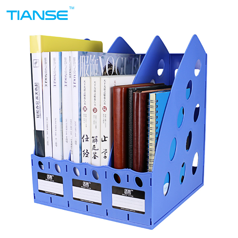 TIANSE document trays file holder file organizer for magazine book desk storage plastic office stationery file case file folder in File Tray from Office School Supplies