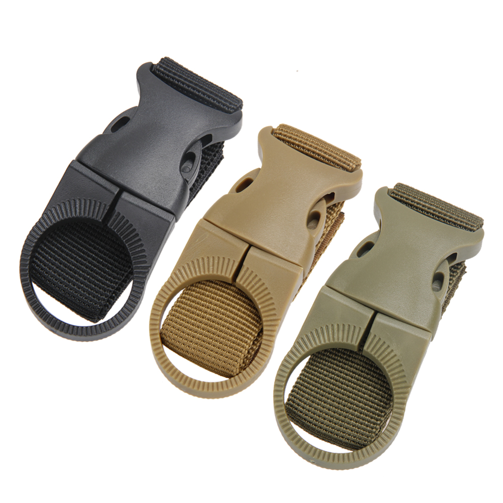 все цены на Nylon Molle Webbing Backpack Hanger Hook Carabiner Water Bottle Backpacks Rope Buckle Hook Carabiner Travel Kits Tool онлайн