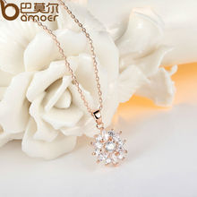 Gold Color Flower Necklace JIN024