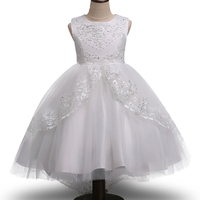 High Grade Gold Wire Embroidery Flower Girl Dress Sequined Wedding Drag The Floor Party Dress