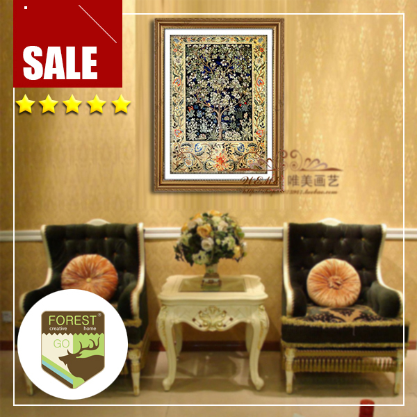Wall tree decor painting art 1 pc canvas spray prints particular tree classic Persian carpet floral & Wall tree decor painting art 1 pc canvas spray prints particular ...
