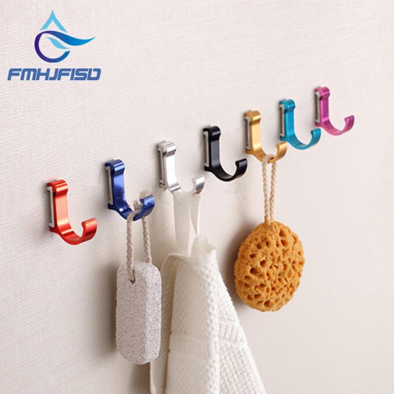 Aluminum Candy Color Decorative Wall hooks& racks,Clothes hanger & Metal & Towel & coat&Robe hook.Bathroom Accessories
