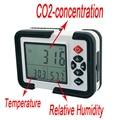 Portátil Digital Medidor DE CO2 CO2 Monitor de Detector de Gás HT-2000 9999ppm CO2 Analisador Analisadores Teste de Temperatura de Umidade Relativa do Ar